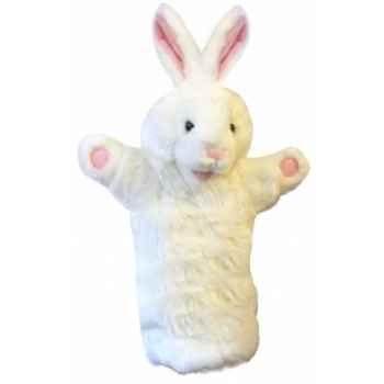 Grande marionnette peluche à main - Lapin blanc-26029