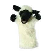 grande marionnette peluche a main mouton blanc 26030