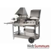 plancha barbecue mendy alde inox 3 feux mixte s chariot le marquier bap3321i