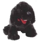marionnette peluche a main chiot noir 23001