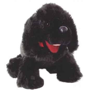 Marionnette peluche à main - Chiot noir-23001