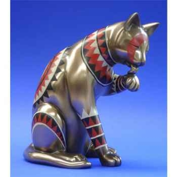 Figurine Chat - Catistic - Licking left paw - WU68689