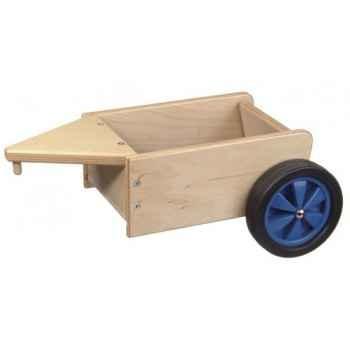 Remorque à fond et roues couleur bleu - 1361