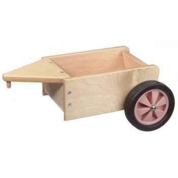 Remorque à fond et roues couleur rose - 1362