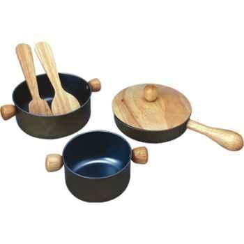 Ustensiles de cuisine en bois - Plan Toys 3413