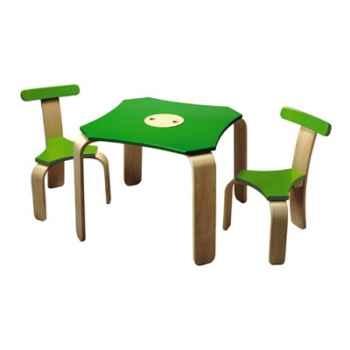 Ensemble table et chaises en bois - Plan Toys 3429