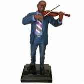 figurine resine violon statue musicien y10zp 535