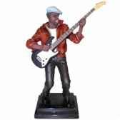 figurine resine guitare statue musicien y10zp 538