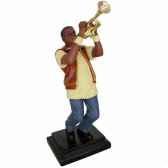 figurine resine trompette statue musicien y10zp 608