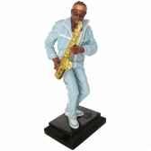 figurine resine saxophone statue musicien y10zp 609