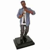 figurine resine clarinette statue musicien y10zp 610