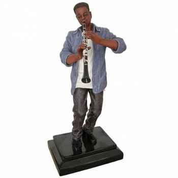 Figurine résine clarinette Statue Musicien -Y10ZP-610