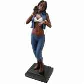figurine resine chanteuse statue musicien y10zp 611
