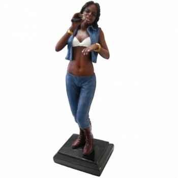 Figurine résine chanteuse Statue Musicien -Y10ZP-611