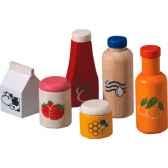 accessoire aliments boissons en bois plan toys 3432