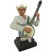 figurine homme resine banjo statue musicien y30zp 1805