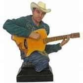 figurine homme resine guitare statue musicien y30zp 1802