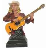 figurine femme resine guitare statue musicien y30zp 1801