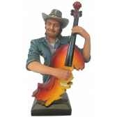 figurine resine contrebasse statue musicien y30zp 1809