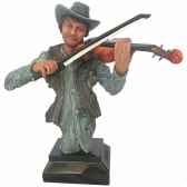 figurine homme resine violon statue musicien y30zp 1807