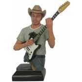 figurine homme resine guitare statue musicien y30zp 1803