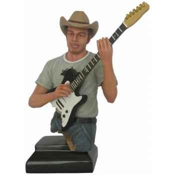 Figurine homme résine guitare Statue Musicien -Y30ZP-1803