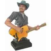 figurine homme resine guitare statue musicien y30zp 1811