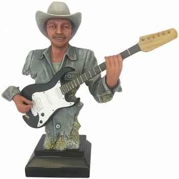 Figurine homme résine guitare Statue Musicien -Y30ZP-1808