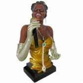 buste resine chanteuse statue musicien y10zp 532
