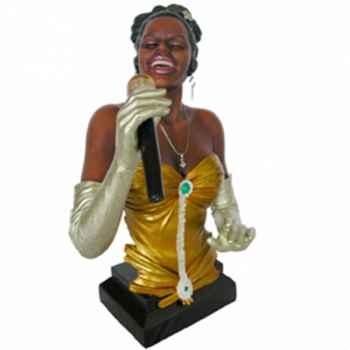 Buste résine chanteuse Statue Musicien -Y10ZP-532