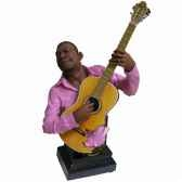 buste resine guitare statue musicien y10zp 714