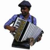 buste resine accordeon statue musicien y10zp 711