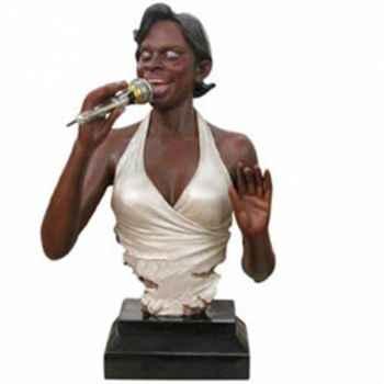Buste résine chanteuse Statue Musicien -Y10ZP-519