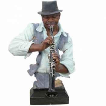 Buste résine clarinette Statue Musicien -Y10ZP-520