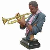 buste resine trompette statue musicien y10zp 522