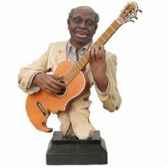 buste resine guitare statue musicien y10zp 521