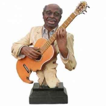 Buste résine guitare Statue Musicien -Y10ZP-521