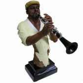 buste resine clarinette statue musicien y10zp 710