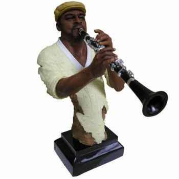 Buste résine clarinette Statue Musicien -Y10ZP-710