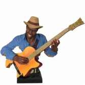 buste resine guitare statue musicien y10zp 621