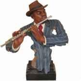 buste resine flute statue musicien y10zp 620