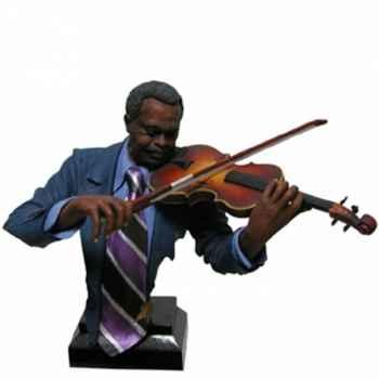Buste résine violon Statue Musicien -Y10ZP-534