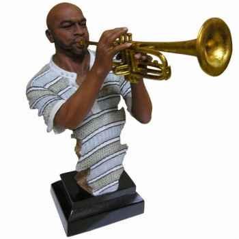 Buste résine trompette Statue Musicien -Y10ZP-706
