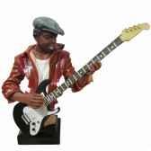 buste resine guitare statue musicien y10zp 518
