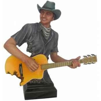 Buste homme résine guitare Statue Musicien -Y30ZP-811