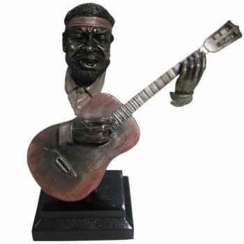 Figurine résine façon métal guitare Statue Musicien -Y10ZP-719