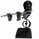 figurine resine facon metaflute statue musicien y10zp 715