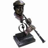 figurine resine facon metaclarinette statue musicien y10zp 716