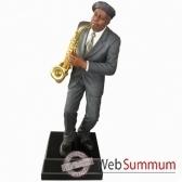 grand modele resine saxophone statue musicien y10zp 613