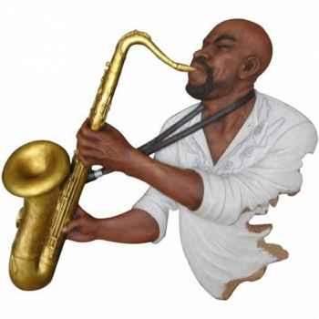Fixation murale résine saxophone Statue Musicien -Y20FR-701
